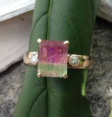 maine couples choosing tourmaline rings