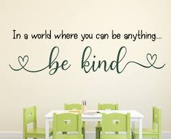 In A World Teacher Decal Classroom Decor Vinyl Wall Decal Classroom Wall Decal Growth Mindset Teacher Door Be Kind You Be Anything