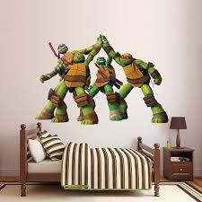 Teenage Mutant Ninja Turtles High Five Huge Officially Licensed Nickelodeon Removable Wall Decal Teenage Mutant Ninja Turtle Room Tmnt Room Ninja Turtle Bedroom