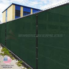 Customize 8 Ft Privacy Screen Fence Green Commercial Windscreen Shade Cover1 160 Ebay
