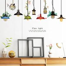 Vova Ceiling Lamp Wall Sticker Removable Self Adhesive Living Room Decal Decoration