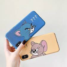 Ốp Lưng Họa Tiết Mèo Và Chuột Mickey Thời Trang Cho Iphone Xsmax Xr Ix I7  I8 I6 6splus