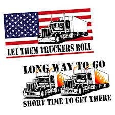 Skull Trucker 18 Wheeler Truck Driver Road Car Boat Window Vinyl Decal Sticker