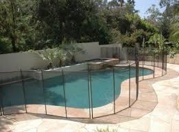 Decorative Pool Fence Material And Pool Fence Sleeves Landscape Design Plans Tropical Landscaping Pool Fence