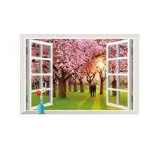 Yiyao 3d Fake Window Wall Decal Lavender Vinyl Wall Sticker Art Home Removable Wall Mural Poster Stickers Buy 3d Wooden Wall Sticker Window Reverse Sticker Room Decor 3d Wall Stickers Product On Alibaba Com