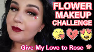 rose flower makeup challenge tutorial