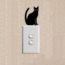 Cat Silhouette Vinyl Decal Personality Funny Animal Decoration Switch Sticker Wall Decal 2ss0410 Decal Water Transfer Paper Sticker Cartoondecal Paper For Glass Aliexpress