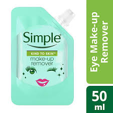 simple mini pouch eye make up remover