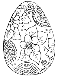 Free Coloring Page Easter Kleurplaat Pasen Easter Egg Coloring