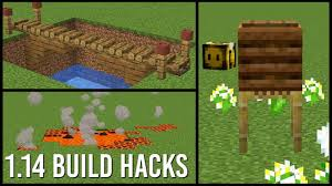 1 14 Minecraft Build Hacks Youtube