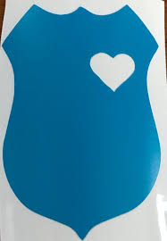 Vinyl Car Decals Police Badge With Heart Nypd Badge Decal Etsy