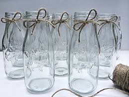 20 glass dairy bottles milk bottles