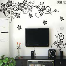 Hot Vine Wall Stickers Flower Wall Decal Removable Art Pvc Home Decor Living Room Floral Wall Sticker Tv Backdrop Decals Flower Wall Decals Wall Decalsdecal Remover Aliexpress