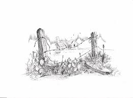Remnants Of The Past Drawing By Barney Hedrick