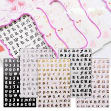 Best Deal 714a21 1 Sheet Nail Decoration Stickers For Nails Rose Gold Letter Punk English Decal Sticker Art For Manicure Back Glue Diy For Nails Cicig Co