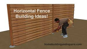 Wood Privacy Fencing With Horizontal Fence Pickets Building Ideas For Do It Yourselfers Youtube