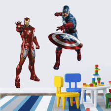 3d Movie Marvel Hero Hulk Iron Man For Kids Room Free Shipping Wall Stickers Art