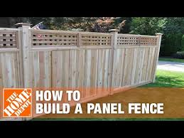 How To Install A Panel Fence The Home Depot Youtube