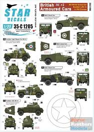 Srd35c1205 1 35 Star Decals British Armoured Cars 2 White Scout Car Humber Lrc Iii In