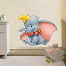 Dumbo The Elephant Disney Decal Removable Wall Sticker Home Decor Art Kids For Sale Online