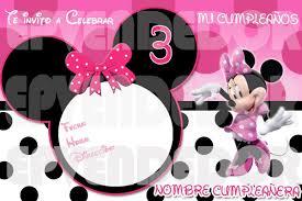 Invitaciones De Cumpleanos De Minnie Mouse Hd Para Bajar Gra