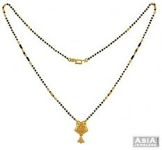 22k gold mangalsutra chain