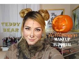 teady bear halloween makeup tutorial