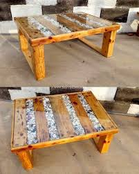 wood table diy wooden pallet coffee
