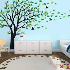 Giant Tree Leaf Removable Wall Decals Stickers Mural Living Room Home Decor 180x300cm Home Decor Wall Decals Stickerssticker Mural Aliexpress