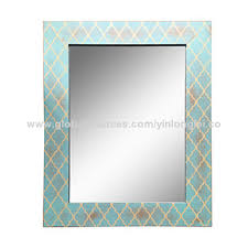 china distressed wood wall mirror on