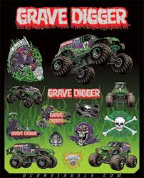 D Cor Grave Digger Monster Jam Decal Sheets Available At Motocrossgiant