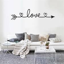 2019 Multiple Colour Love Arrow Decals Wall Sticker Living Room Bedroom Vinyl Engraved Wall Decals Home Decoration Stickers O28 Wall Stickers Aliexpress