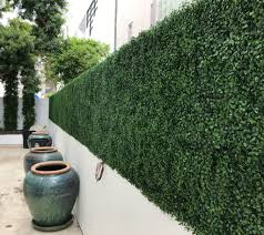 Artificial Boxwood Hedge Mat Fire Rated Medium Green Geranium Street