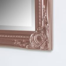 rose gold mirror glass plate mirrored