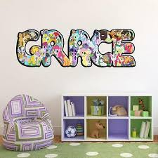 Home Garden My Little Pony Personalized Name Decal Wall Sticker Home Decor Art Mural J246 Children S Bedroom Child Decor Decals Stickers Vinyl Art