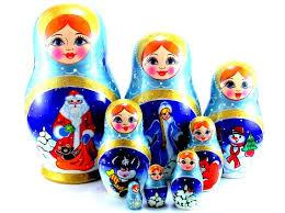 Christmas Nesting Dolls Russian matryoshka babushka 8 pcs. | Etsy