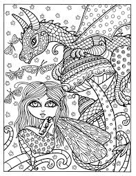 Fairy En Dragon Instant Download Volwassen Kleurplaten Fantasy Etsy