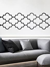 Amazon Com Vinyl Wall Art Decal Quatrefoil Pattern 20 X 119 Modern Geometric Symmetry Shapes Decor For Home Apartment Workplace Living Room Bedroom Office Apartment Ornament 20 X 119 Black