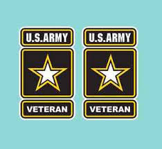 Us Army Veteran Window Decals Vinyl Stickers Military Emblem 2 Small Or 1 Large Ebay