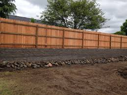 Fencing On Top On Retaining Wall Landscaping Retaining Walls Retaining Wall Exterior Wall Siding