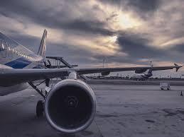 hd wallpaper gray airliner aeroplane