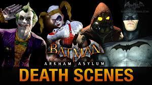 batman return to arkham asylum all game over death scenes