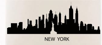 New York Skyline Wall Sticker New York City Skyline Statue Of Libery Wall Decal Bedroom City Skyline Wall Art Sticker Decoration City Skyline Skyline Wall Stickersstickers New York Aliexpress