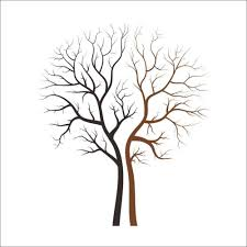 Removable Twins Tree Wall Decal Lover Black And Brown Tree Wall Decals Ellaseal