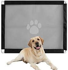 Mschen Magic Gate For Dogs Pet Safety Guard Gate Pet Protection Net Portable Folding Mesh Gate Baby Safety Gates Install Indoor Outdoor Anywhere Safety Fence For Hall Doorway Amazon Co Uk Kitchen Home