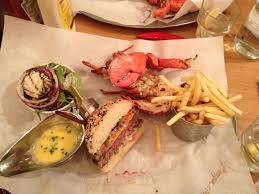 I ate] half burger and half lobster in ...