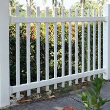 Azembla 4 Ft X 6 Ft White Vinyl 1 5 In Unassembled Picket Fence Panel 1728200ua7 The Home Depot