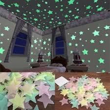 200 Wall Glow In The Dark Stars Stickers Kids Bedroom Nursery Room Ceiling Decor