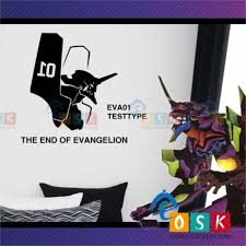 Eva01 First Machine Body Wall Stickers Animation Robots War Transformers Stickers Vinyl Wall Stickers Wall Stickers Evangelion
