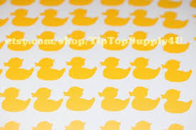 126 Mini Rubber Ducky Rubber Duck Vinyl Decal By Tiptopsupply4u Rubber Ducky Party Rubber Ducky Napkin Cards